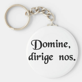 Lord, direct us. basic round button keychain
