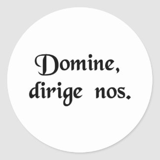 Lord, direct us. round stickers