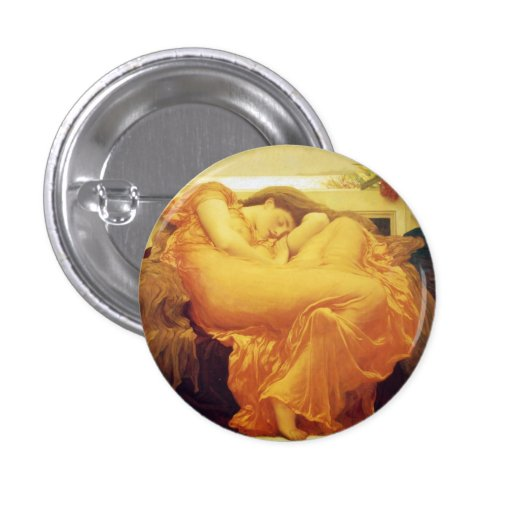 """Lord Frederic Leighton, """"Flaming June"""" Button"""
