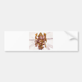 Lord Ganesa Good Luck Charm Bumper Sticker
