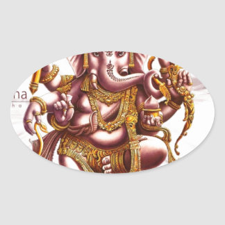 Lord Ganesa Oval Sticker