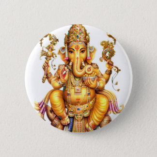 LORD GANESH HINDU GOD PINBACK BUTTON