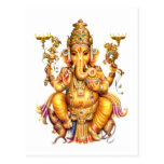 LORD GANESH HINDU GOD POSTCARD