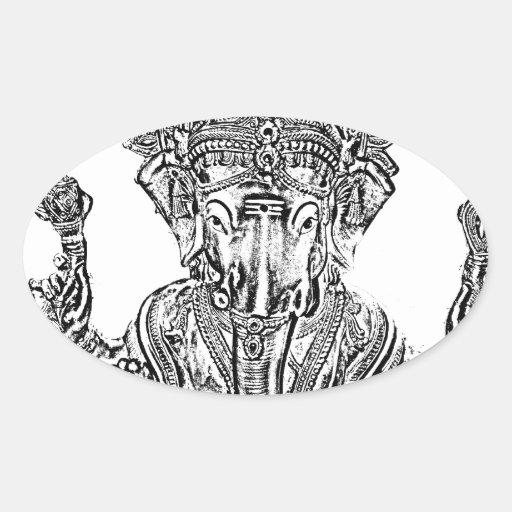 Lord Ganesh Oval Sticker