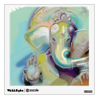 Lord Ganesh Wall Decal Square