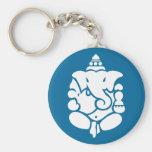 Lord Ganesha Basic Round Button Keychain