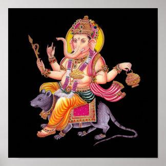 LORD GANESHA - Ganapati, Vinayaka, and Pillaiyar Poster