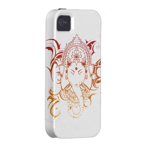 Lord Ganesha India Yoga Meditation Spirituality Case-Mate iPhone 4 Cases