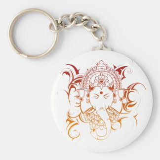 Lord Ganesha India Yoga Meditation Spirituality Keychain