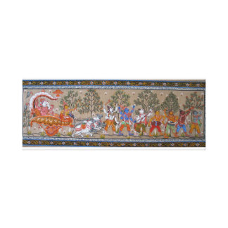 Lord Ganesha s Journey Canvas Print