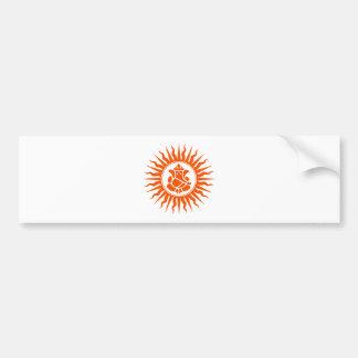 Lord Ganesha Sign Bumper Sticker