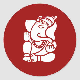 Lord Ganesha Sign Classic Round Sticker
