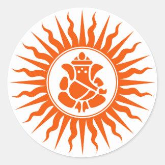 Lord Ganesha Sign Classic Round Sticker
