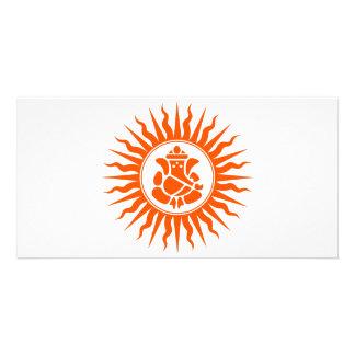 Lord Ganesha Sign Customized Photo Card