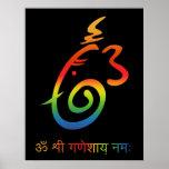 Lord Ganesha Sign Print