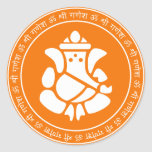 Lord Ganesha Sign Sticker
