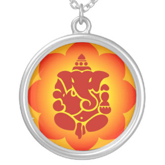 Lord Ganesha Silver Plated Necklace