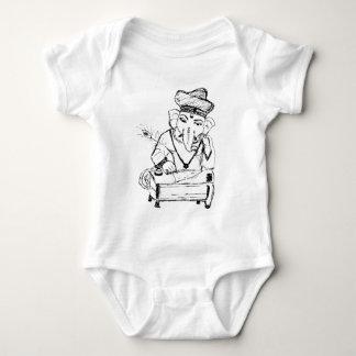 Lord Ganesha.tif Baby Bodysuit