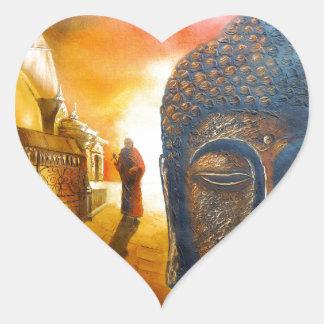 Lord Gautama Buddha Heart Sticker