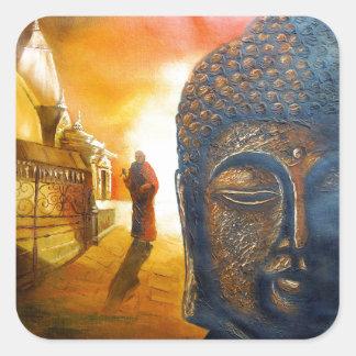 Lord Gautama Buddha Square Sticker