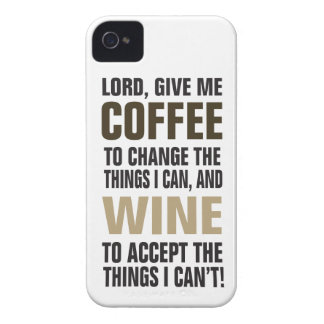 Lord Give Me Coffee and Wine! iPhone 4 Covers