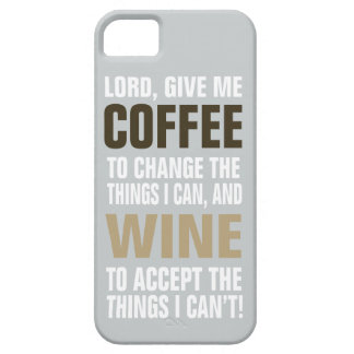 Lord Give Me Coffee and Wine! iPhone SE/5/5s Case