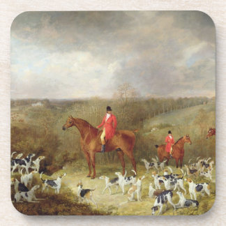 Lord Glamis and his Staghounds, 1823 (oil on canva Beverage Coaster