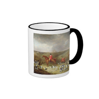 Lord Glamis and his Staghounds, 1823 (oil on canva Ringer Mug