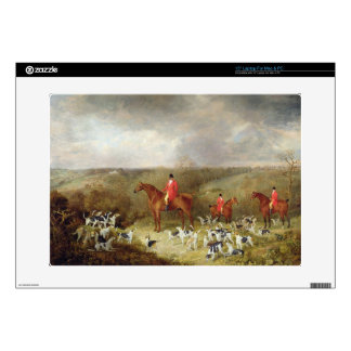 """Lord Glamis and his Staghounds, 1823 (oil on canva 15"""" Laptop Decals"""