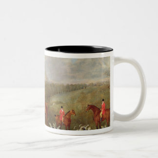 Lord Glamis and his Staghounds, 1823 (oil on canva Two-Tone Coffee Mug
