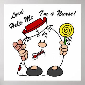 Lord Help Me I'm a Nurse Poster