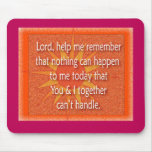 Lord help me remember mouse pad