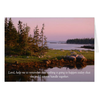 Lord, help me to remember greeting card
