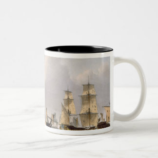 Lord Hotham's Action, March 14th 1795, engraved by Two-Tone Coffee Mug