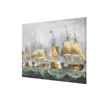 Lord Howe in the Queen Charlotte Breaking the Ene Gallery Wrap Canvas