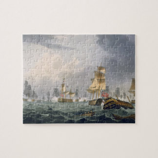 Lord Howe's Victory, 1st June 1794, engraved by Th Jigsaw Puzzle