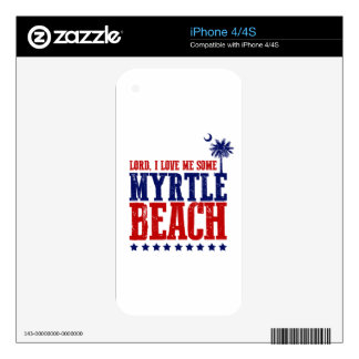 Lord, I Love Me Some Myrtle Beach Decal For The iPhone 4S