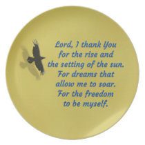 Lord I Thank You for Freedom Plate