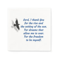 Lord I Thank You for the Freedom Napkin