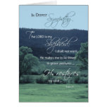 Lord is My Shepherd, Religious, Christian Sympathy Card