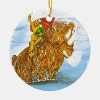 Lord Jamie Thorn Amber riding Bruno Double-Sided Ceramic Round Christmas Ornament