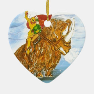 Lord Jamie Thorn Amber riding Bruno Double-Sided Heart Ceramic Christmas Ornament