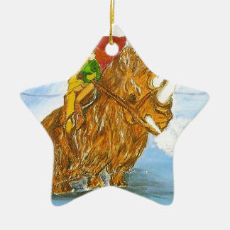Lord Jamie Thorn Amber riding Bruno Double-Sided Star Ceramic Christmas Ornament