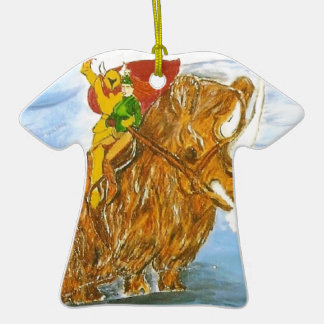 Lord Jamie Thorn Amber riding Bruno Double-Sided T-Shirt Ceramic Christmas Ornament