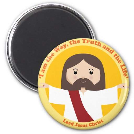 Lord Jesus Christ 2 Inch Round Magnet