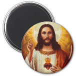 Lord Jesus Christ and the Sacred Heart Fridge Magnet
