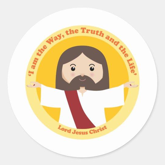 Lord Jesus Christ Classic Round Sticker