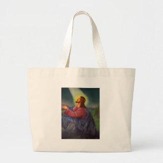 Lord Jesus Christ Hand Painted Orthodox Icon Bag