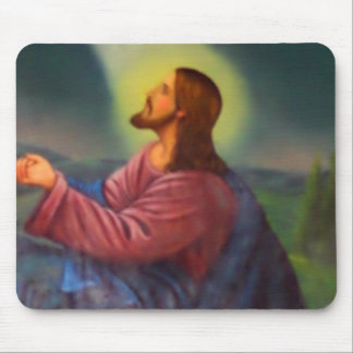 Lord Jesus Christ Hand Painted Orthodox Icon Mouse Pad