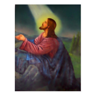 Lord Jesus Christ Hand Painted Orthodox Icon Postcard